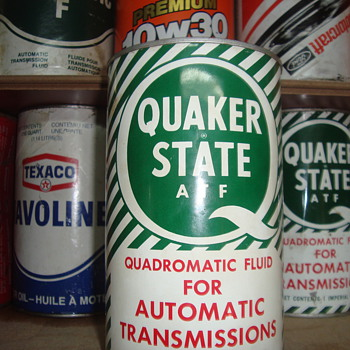quaker state cans - Petroliana