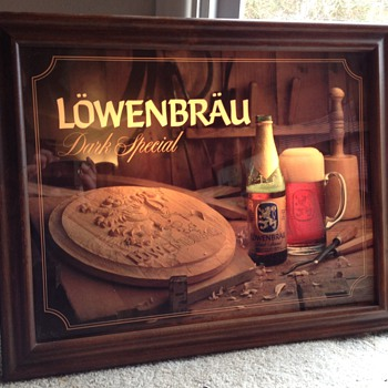 Lowenbrau bar mirror - Advertising