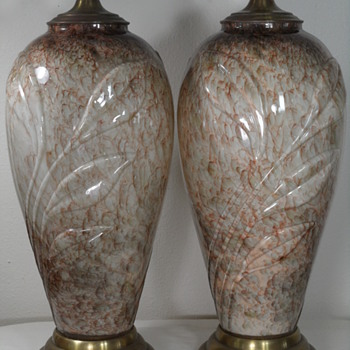 Vintage Art Glass Table Lamps ~ Need Murano Confirmation