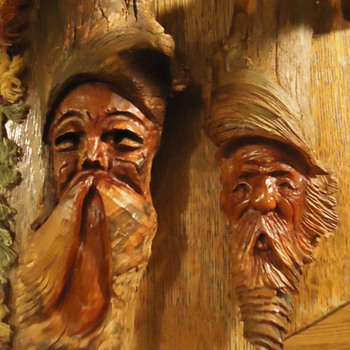 Wood carvings from Goodwill, Folk Art - Folk Art