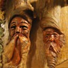 Wood carvings from Goodwill, Folk Art