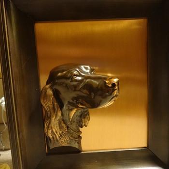 Large Irish Setter 3D bronze picture.  - Visual Art