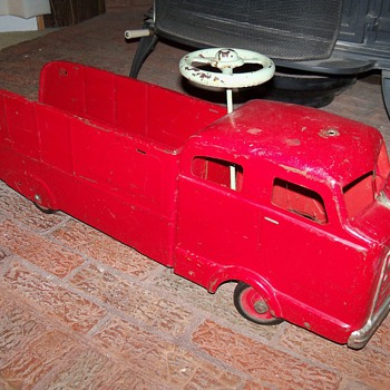 Vintage Push Car Fire Truck - Toys