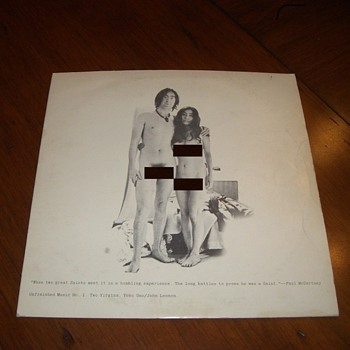 John & Oko Two Virgins Apple Record Label Released 1968 - Records