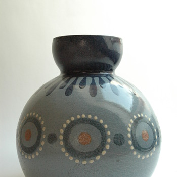 large french art deco pottery vase by LEON ELCHINGER (1871-1942)