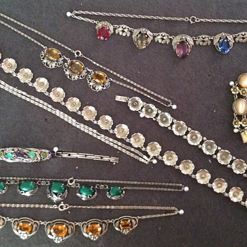 Collection of some of my Jewellery, Mostly Bernard Instone  - Art Deco