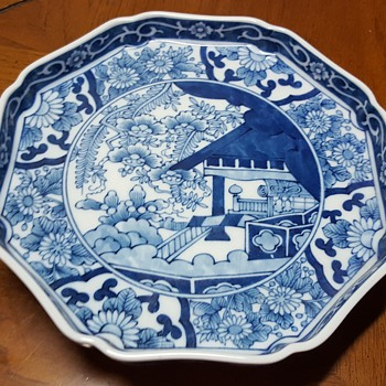 Unknown Blue and White Plate - Art Pottery