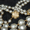Miriam Haskell Faux Baroque Pearl Double String Necklace