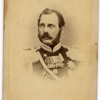Great Find Today 1800's CDV of Russia Emperor Alexander II - Military and Wartime