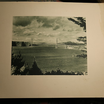 Large and Early Photogravure of the Golden Gate Bridge - Photographs