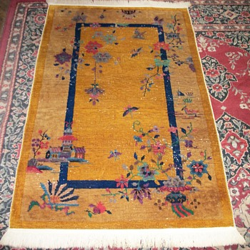 chinese art deco rug - Asian