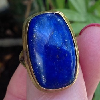 Gold Lapis Ring