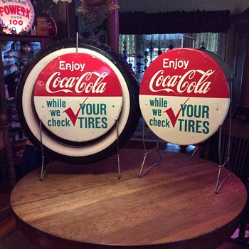 Enjoy Coca-Cola while we check you tires stand...1960's