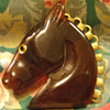 Bakelite Horse Brooch Ice Tea colored Beauty!