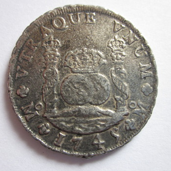 Spanish Silver Dollar Dated 1749 - World Coins