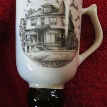 Hall China tri-state East Liverpool Ohio pottery festival 1987 mug - Art Pottery