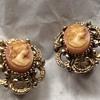Antique clip on earrings