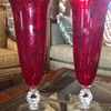 "Pair of Cambridge 14"" Carmen vases"