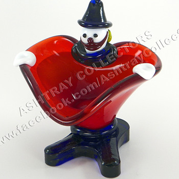 Murano Clown Ashtray