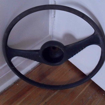 Old steering wheel.