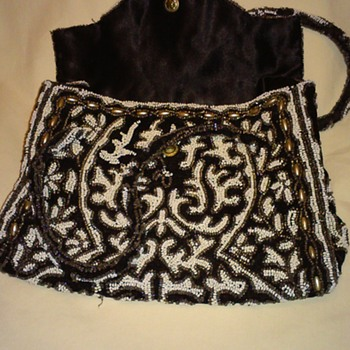 Hand Made French Glass Beaded Handbag