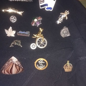 Pin badges all types, UK Military, Sierra leone Miitary, Penny Farthing all ages and types - Military and Wartime