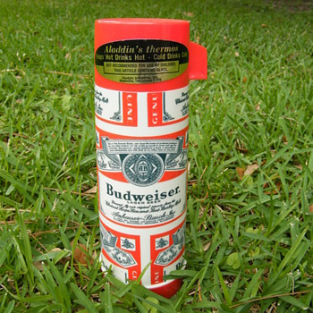 Budweiser Aladdin's Thermos, Only One of its Kind? - Breweriana
