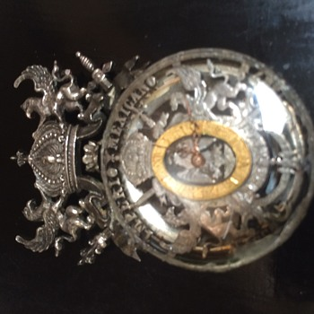 Mexico Silver Lapel Watch