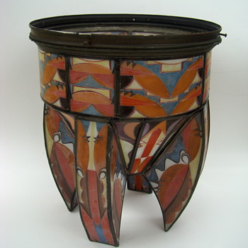 SUPER ART DECO Lamp Shade - E.F. Caldwell??? - Art Deco