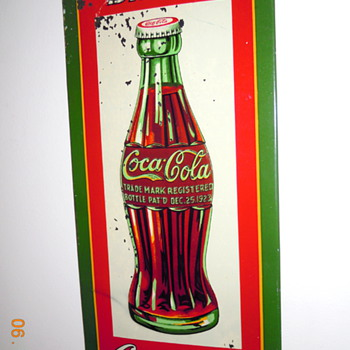 "1931 Coca-Cola Tin Sign by Dasco, 6"" x 13-1/2"""