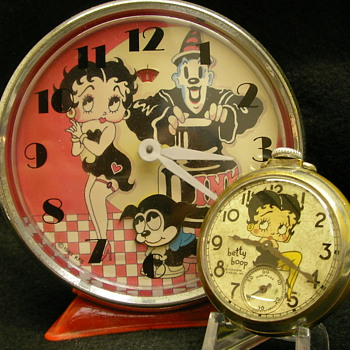 1983 Betty Boop Animated Alarm Clock - Clocks