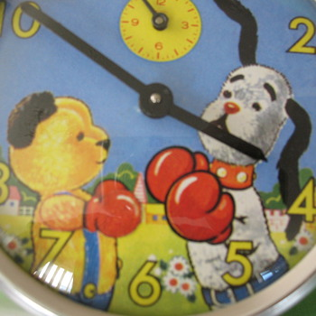 "1950's-60""s Sooty and Sweep Animated Alarm Clock - Clocks"