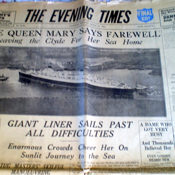 1936 newspaper Queen mary - Paper