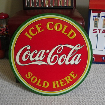 1933 Coca Cola Disc Sign, The Brother!