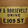 1950s porcelain street sign from Manhattan, N.Y.