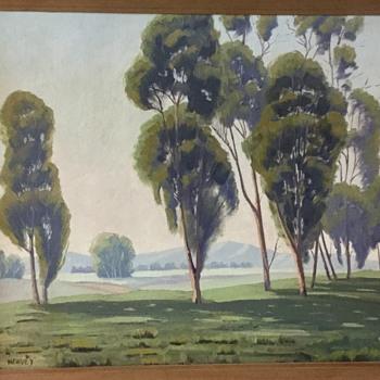 California eucalyptus school painting - Visual Art