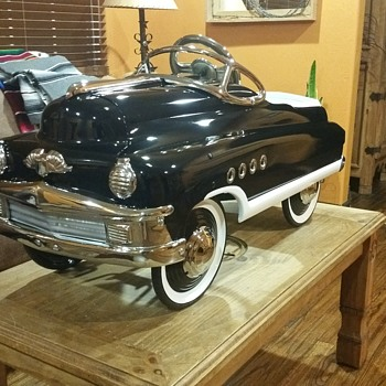 RESTORED 1950s MURRAY TORPEDO ROADMASTER BUICK PEDAL CAR