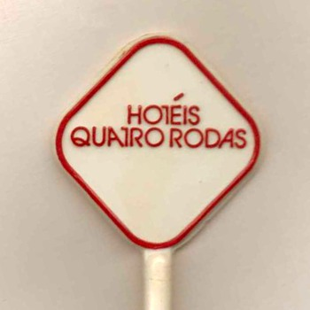 Hotel Quatro Rodas (Brazil) - Drink Stirrer - Advertising