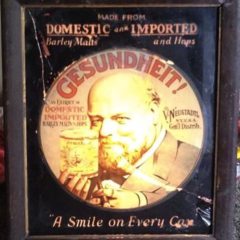 Antique lighted GESUNDHEIT! Sign - Breweriana