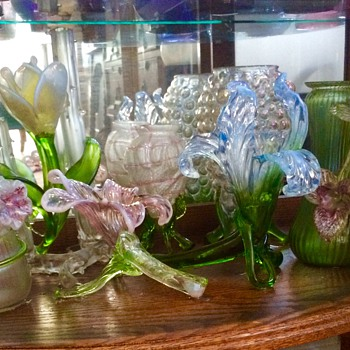 "Kralik Floriforms ""my Garden"" of Vases.  - Art Glass"