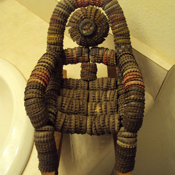 Bottle cap chair. - Folk Art
