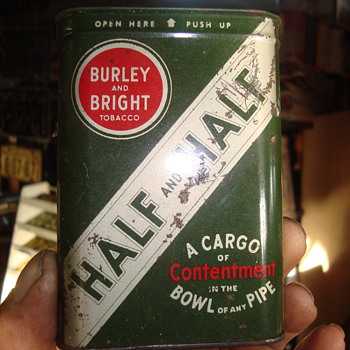 half and half cigar   tin 