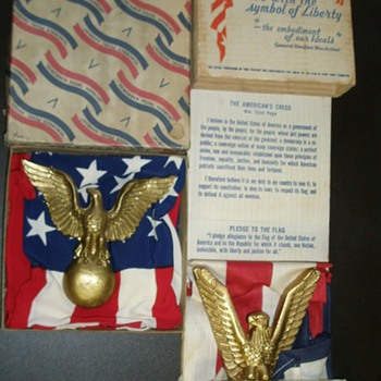 World War Two US American Flags MIB - Advertising