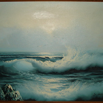 OIL PAINTING BY S. HOPKINS