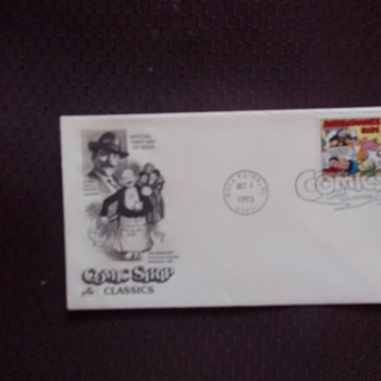 ARTIST OUTCAULT, FIRST DAY COVER WITH COMIC STAMP  Pre 1907 POSTCARD SIGNED OUTCAULT