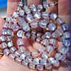 Vintage Deco Ceylon Moonstone Bead Amethyst Double Strand Necklace 14k