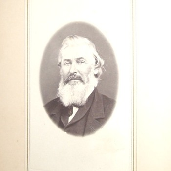 CDV of interesting looking man - Photographs