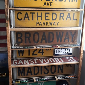 NYC Vintage Streetsign Collection