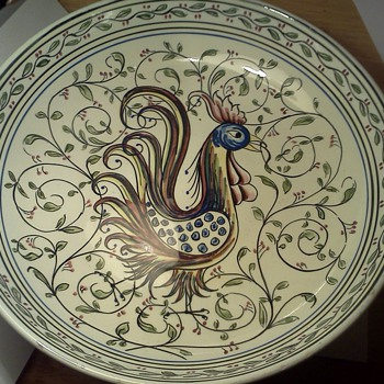 Hand Painted Peacock Bowl
