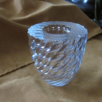 Orrefors - Heavy twisted vase - Art Glass